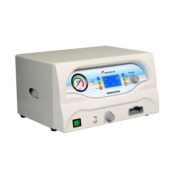 Аппарат для прессотерапии, лимфодренажа, Вид сбоку, (четырёхкамерная компрессионная лимфодренажная система) с вакуумным массажем Pharmacels 3700  (Фармацельс)